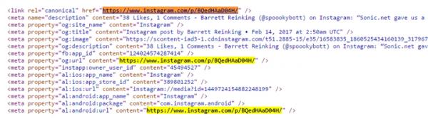 استفاده از منبع کد در اینستاگرام