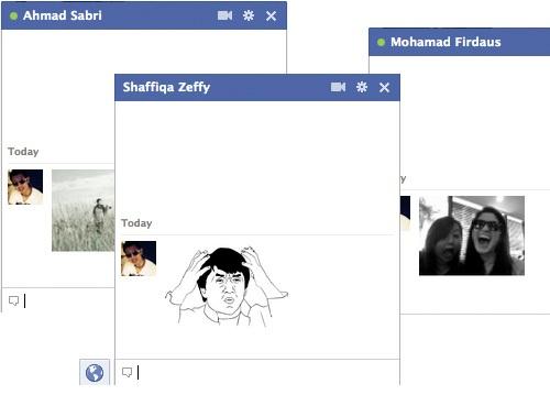 ترفند: نحوه ی استفاده از تصاویر در چت باکس فیسبوک