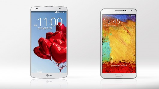 LG G Pro 2 در برابر Samsung Galaxy Note 3