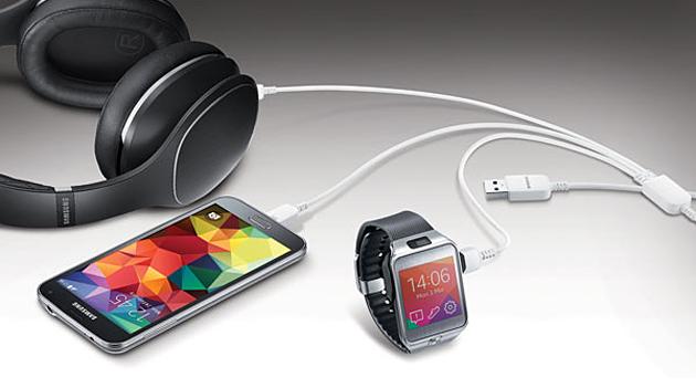 کابل USB سامسونگ به شما اجازه می دهد که سه دستگاه را همزمان شارژ کنید!