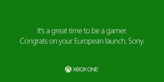 هم زمان با عرضه PS4 در بازارهای اروپایی ؛ مایکروسافت رسما به سونی تبریک گفت!