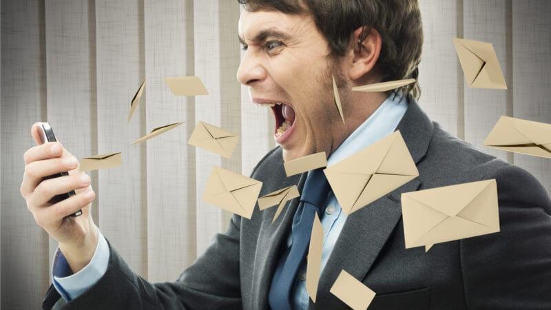 بازاریابی ایمیلی - استرس