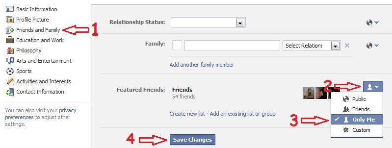 پنهان کردن لیست دوستان در فیسبوک (مطابق با تغییرات جدید فیسبوک)