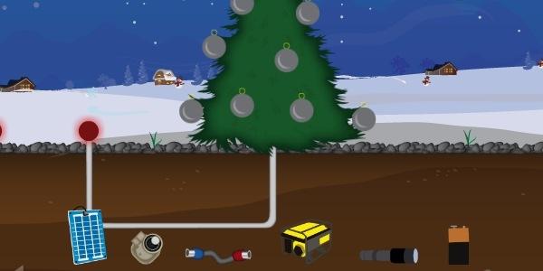 سرگرمی روز جمعه : درخت زیبای کریسمس