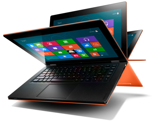 لنوو چهار محصول تبدیل شدنی (تبلت و لپ تاپ) با سیستم عامل  ویندوز 8 عرضه میکند