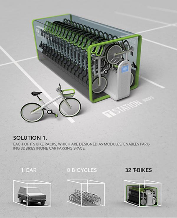 دنیای طراحی: یک ایستگاه کوچک و هوشمند برای دوچرخههای عمومی در کرهی جنوبی