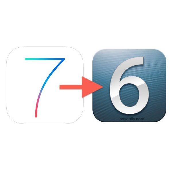 بیاموزید: چگونه به iOS 6 برگردیم؟