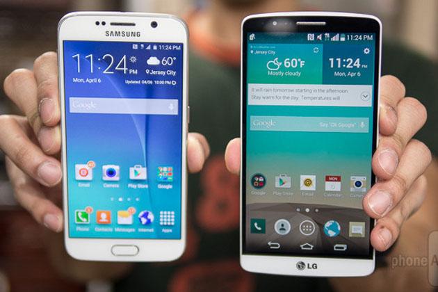 Samsung Galaxy S6 در مقابل LG G3