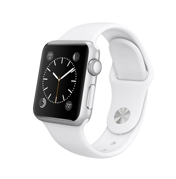 ۱۴۶۵_L_1_Apple Watch 38mm Silver Aluminum Case with White Sport Band