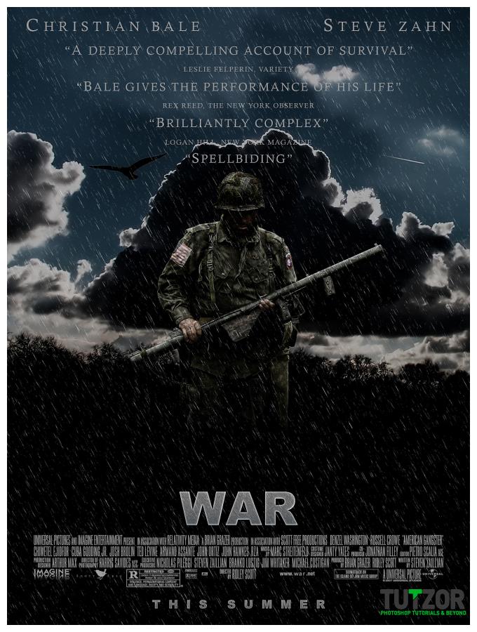 طراحی یک پوستر برای یک فیلم جنگی