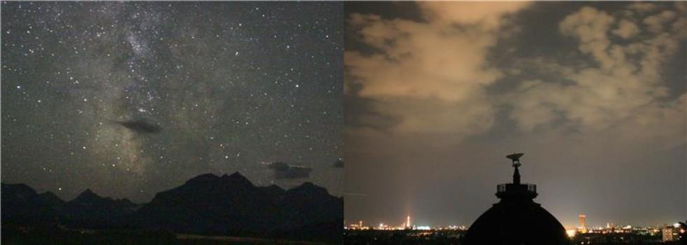 پدیده حاصل از نور مصنوعی skyglow در آسمان شب چه تاثیری می گذارد