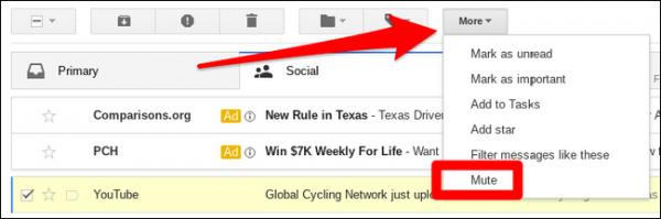 آموزش Mute  و UnMute کردن نوتیفی ایمیل ها در جیمیل