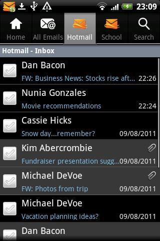 چگونگی دسترسی به Hotmail و Outlook در آندروید