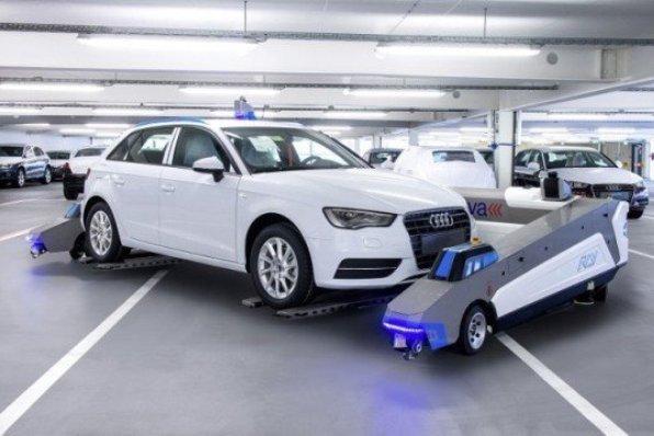 پارک خودرو توسط روبات هوشمند