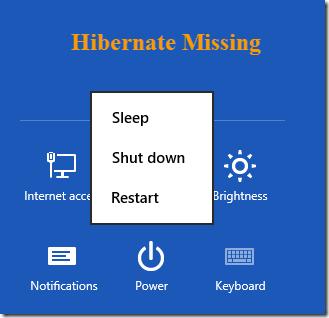 نحوهی فعال کردن Hibernate در Windows 8
