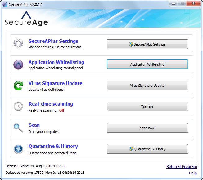 SecureAPlus؛ اجرای برنامههای موجود در لیست سفید