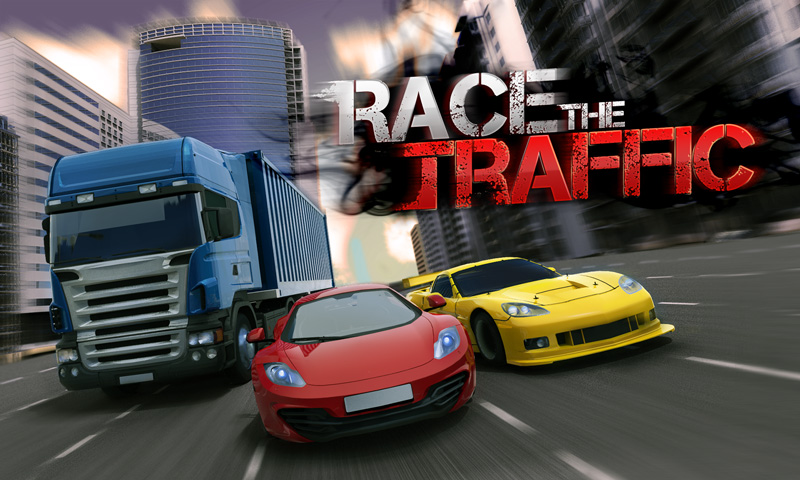 بازی فوق العاده زیبای رانندگی در ترافیک Race The Traffic v1.0.12 + دانلود