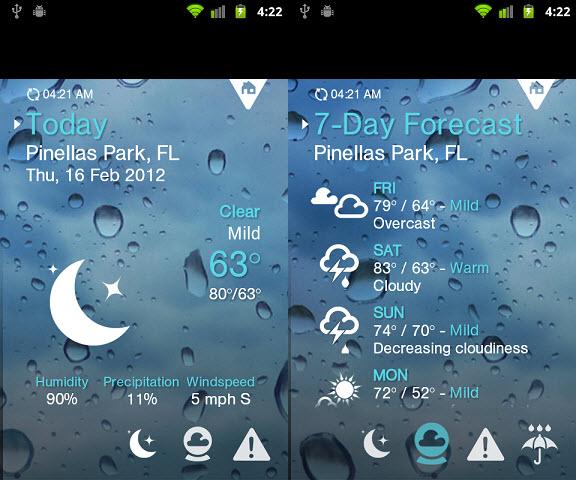 با قفل هوشمند صفحه نمایش مایکروسافت، وضعیت آب و هوا را ببینید.