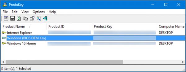 بازیابی  Product Keys