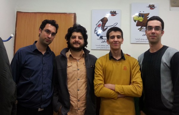 از راست به چپ: علی کسایی، علی قانعی، رایکا امینی و سید سعید موسوی
