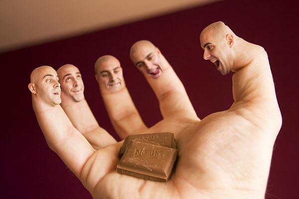 تصویر تخیلی دست و انگشتان به کمک تغییر و دستکاری در تصاویر