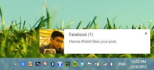 دریافت نوتیفیکیشن های فیسبوک روی دسکتاپ بوسیله کروم