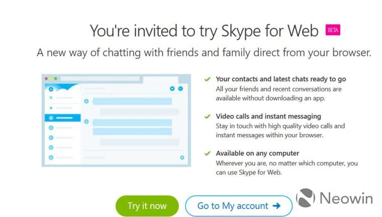 اسکایپ پای خود را به مرورگرها باز کرد