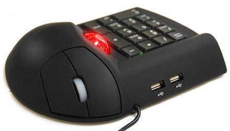 3-in-1-Mouse-Combo-a-Trackball-mouse-a-Numeric-keypad-a-USB-hub
