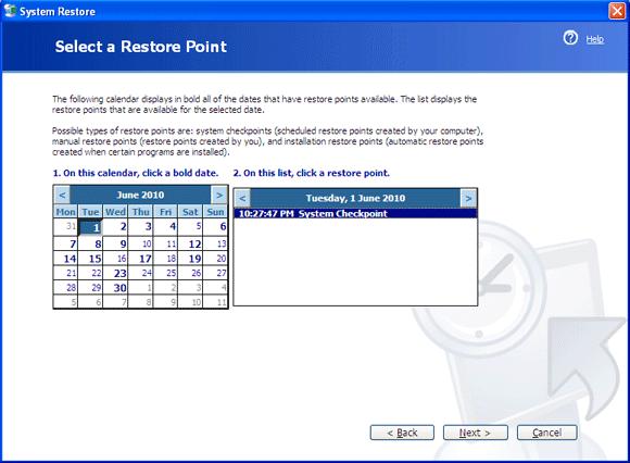 چگونگی رفع مشکل کامپیوتر با استفاده از Windows Restore در ویندوز ایکس پی ، ویستا و 7