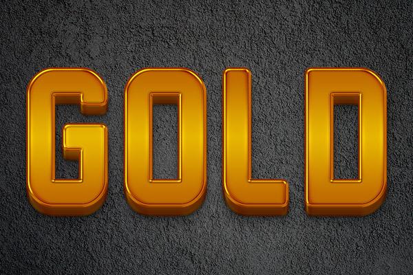 آموزش ایجاد یک متن 3D طلایی براق