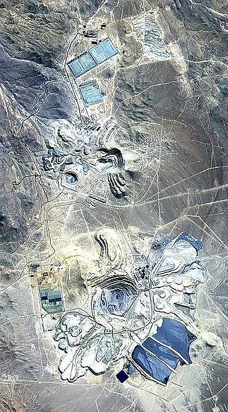 Escondida from space: The mine is at the bottom of the picture