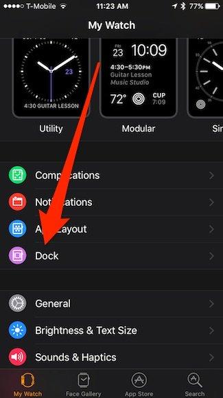 حذف و اضافه کردن اپ های apple watch dock