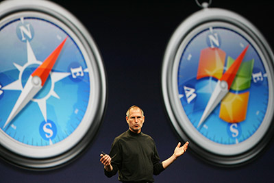 Apple Inc. CEO Steve Jobs gives the keyn