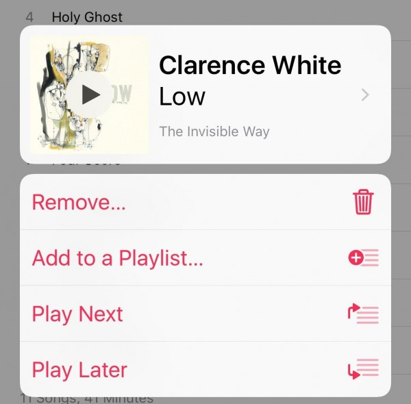 Adding Songs to 'Up Next' in Albums Is Easier