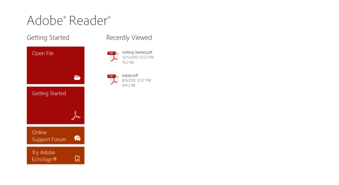 Adobe Reader_Windows 8