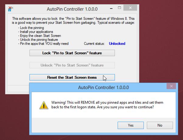 چگونگی غیر فعال کردن ویژگی سنجاق به صفحه شروع در ویندوز 8