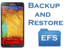 Training backup of EFS files Android
