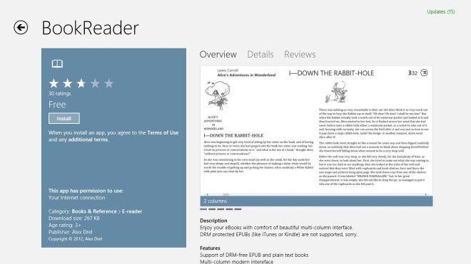 خواندن کتاب های EPUB و سنجاق کردن آنها به صفحه شروع در ویندوز 8