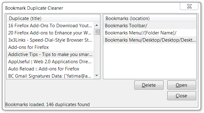 Bookmark-Duplicate-Cleaner