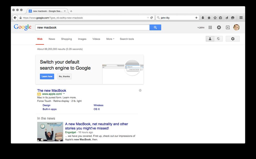 گوگل می خواهد کاربران فایرفاکس آن را عنوان موتور جستجوی پیش فرض خود قرار دهند
