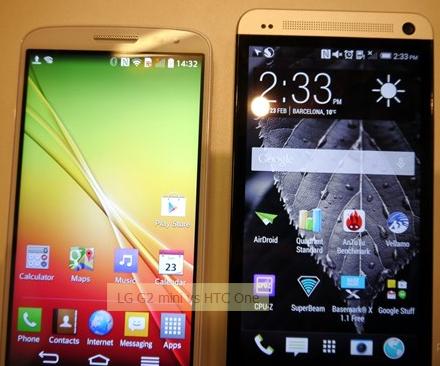 LG G2 mini  در برابر HTC One