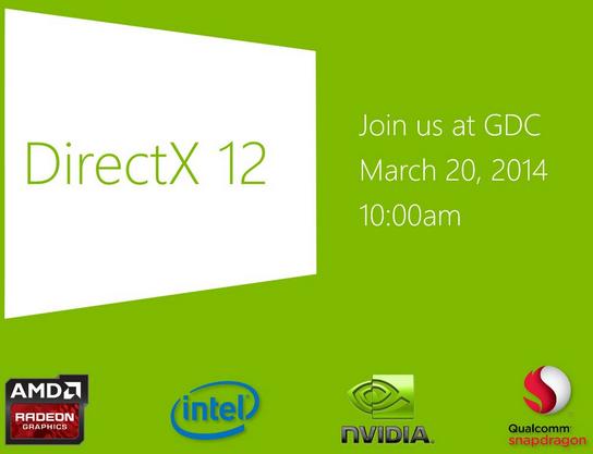 رونمایی مایکروسافت از DirectX 12 در GDC 2014 !