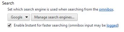 تنظیمات مربوط به omnibox در گوگل کروم