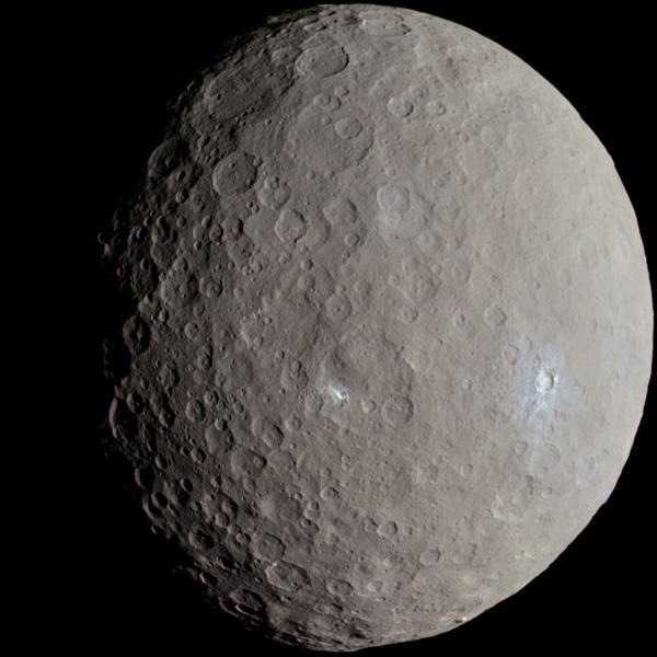 سیاره ی کوتوله Ceres دارای آب های یخ زده است