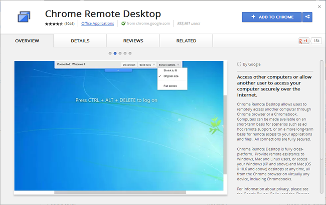Chrome Remote Desktop_Add