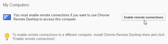 Chrome Remote Desktop_Enable Remote Connections