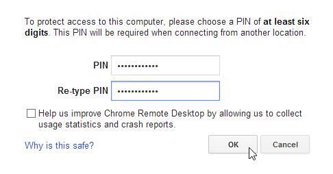 Chrome Remote Desktop_Enter PIN