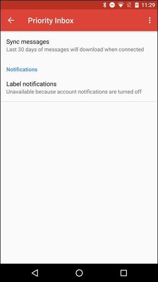 تنظیم اعلانات برای فیلتر جیمیل