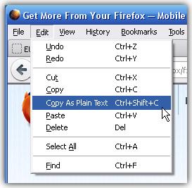 Ctrl+Shift+U برای ذخیره متن بدون فرمت