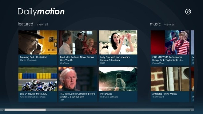 Dailymotion برنامه رسمی ویندوز 8 خود را عرضه کرد